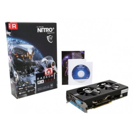 Sapphire Radeon NITRO+ RX 570 4GB GDDR5 PCI-E Dual HDMI / DVI-D / Dual DP w/ Backplate (UEFI)